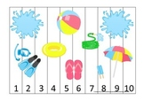 Summer season themed Number Puzzle child care learning act