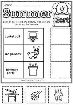 Summer packet Activities