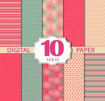 Summer sweet Digital Paper Pack