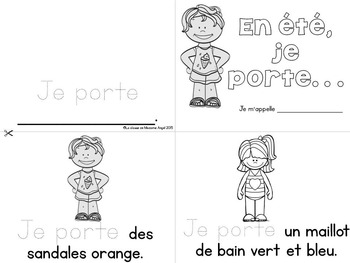 Summer (été) Themed Emergent Readers in French - 3 mini-books