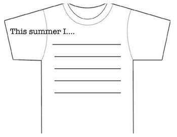 Summer t-shirt activity