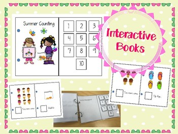 Summer themed Interactive Counting Book