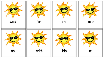 Summer themed Sight Word Recognition Game!