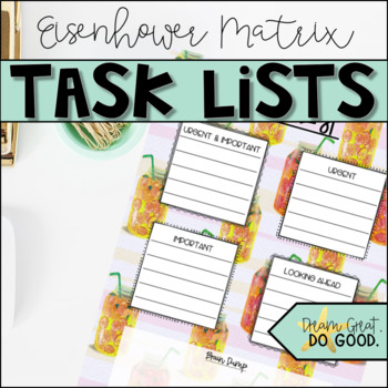 Summer-themed Task Lists- 30 different backgrounds for teacher and life planning