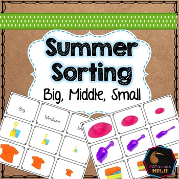 Summer themed math sorting