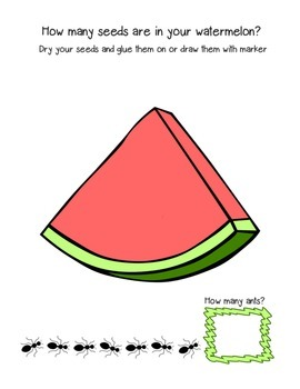 Summer themed printables for PreK and K (camping, picnics, beach and more!)