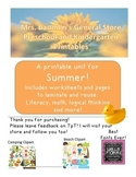 Summer themed printables for PreK and K (camping, picnics,