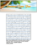 Summer time fun wordsearch