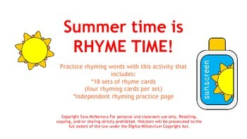 Summer time is RHYME TIME!
