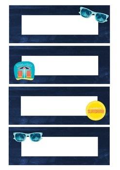 Summer time labels