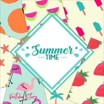 Summer Time - Digital Paper