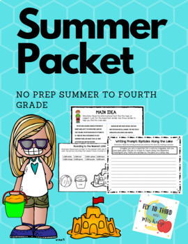Summer to Fourth Grade Pack