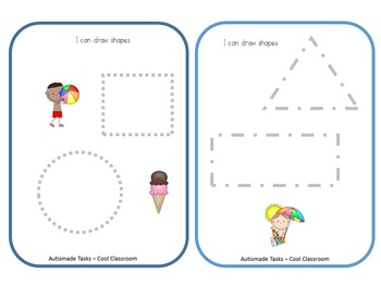 Summer tracing task cards