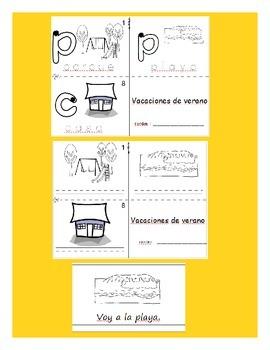Summer vacation / Vacaciones de verano SPANISH Workbook & Games Package