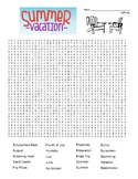 Summer vacation difficult word search and coloring page   (SUB PLAN use?)