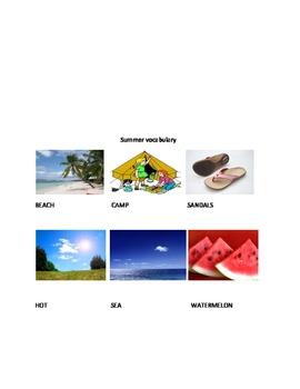 Summer vocabulary