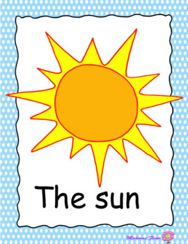 Summer vocabulary posters