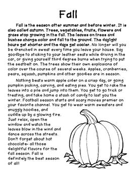 Summer vs. Fall- Opinion
