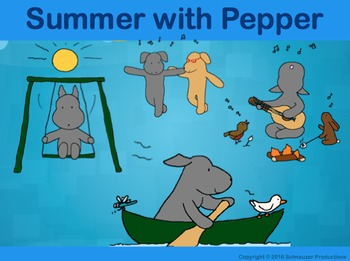 Summer with Pepper in English