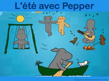 Summer with Pepper in French