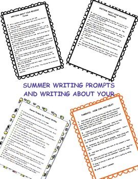 Summer writing...ideas for parents