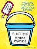 Summer writing prompts - opinion and narrative