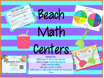 Summer/Beach Math Pack Common Core Aligned