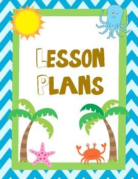 Summer/Beach Theme Teacher Binder Cover/Dividers and Begin