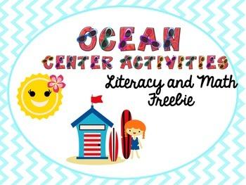 Summer/Ocean Center Packet Freebie