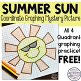 Spring Break Sun Coordinate Graphing Picture FREEBIE