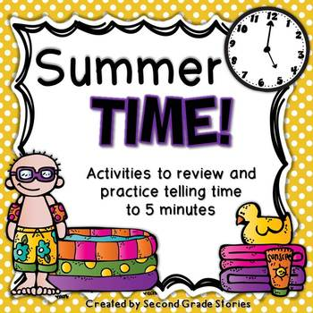 Telling Time ~ activities for telling time to 5 minutes