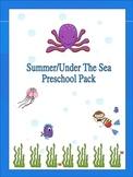 Summer/Under The Sea Preschool Pack