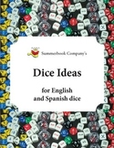 Summerbook Company's Dice Ideas for English and Spanish dice
