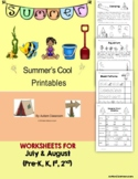Summer Printables (Prek, K, Special Ed. and Autism)