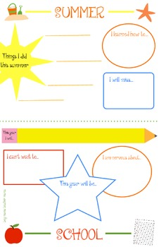 Summer's Done School's Fun Writing Activity