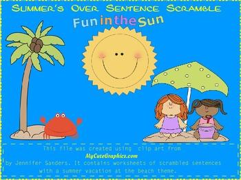 Summer's Over Sentence Scramble
