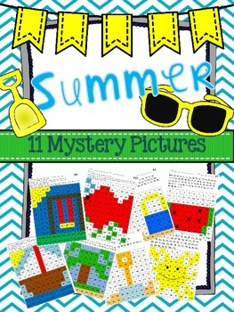 Summer 100 Chart Mystery Pictures (TWO versions)