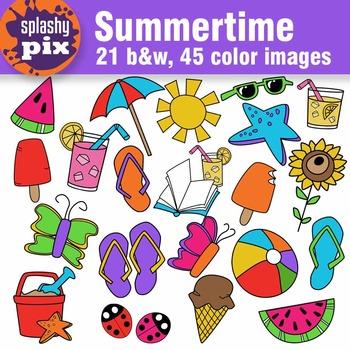 summertime clipart by splashy pix teachers pay teachers rh teacherspayteachers com summertime clipart free summertime fun clipart
