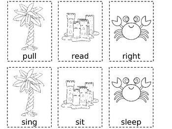 Summertime 2nd Grade Dolch Sight Word Cards