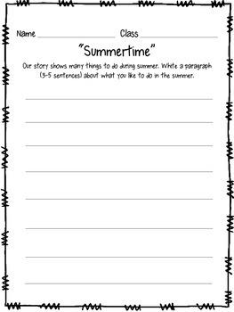 Summertime: A Children's Literature & Music Lesson