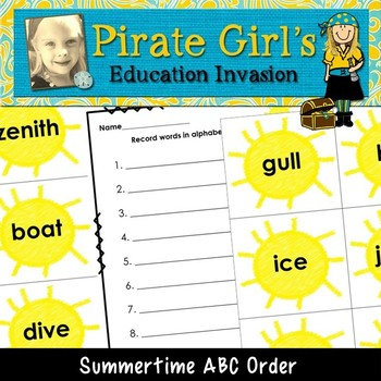 Summertime ABC Order