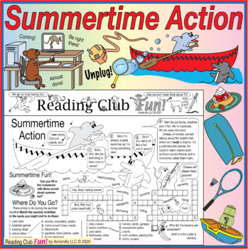 Summertime Action Two-Page Activity Set