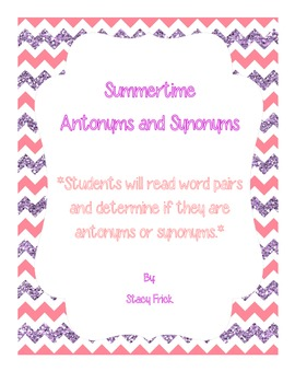 Summertime Antonyms and Synonyms
