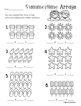 Summertime Arrays: Multiplication Practice