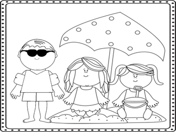 Summertime Coloring Pages