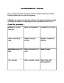 Summertime Conversation Starter/Back to School Icebreaker Game