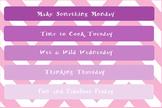 Summertime Daily Activities Chart