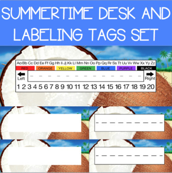 Summertime Desk and Labeling Tags