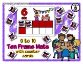 Summertime Eating - Ten Frame Mats 0 to 10 & Counter Cards