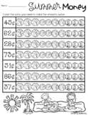 Summertime / End of the Year: Counting Money - Coloring Co